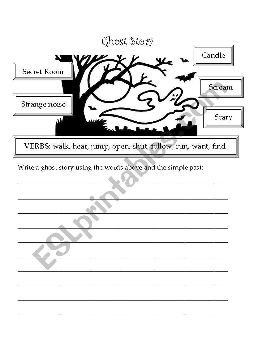 Writing A Ghost Story Worksheet