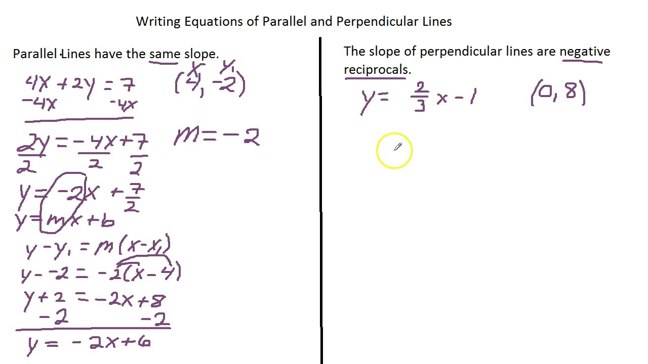 Writing Equations Of Lines Perpendicular Parallel - Tessshebaylo