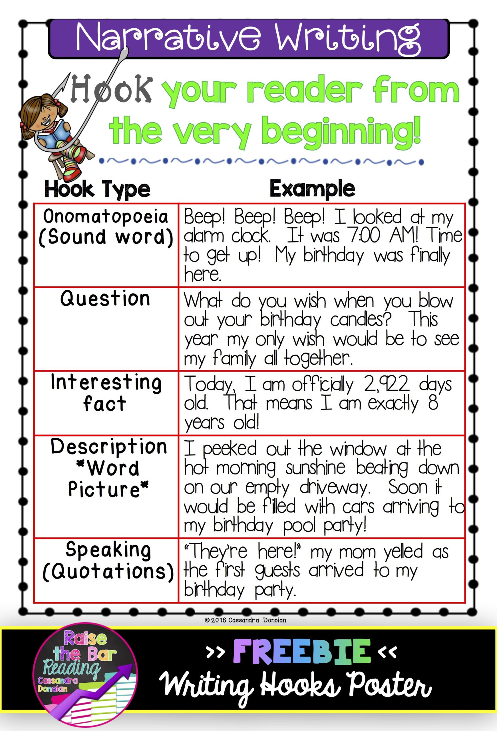 Writing Hooks Posters & Practice Sheets! Perfect For Grades