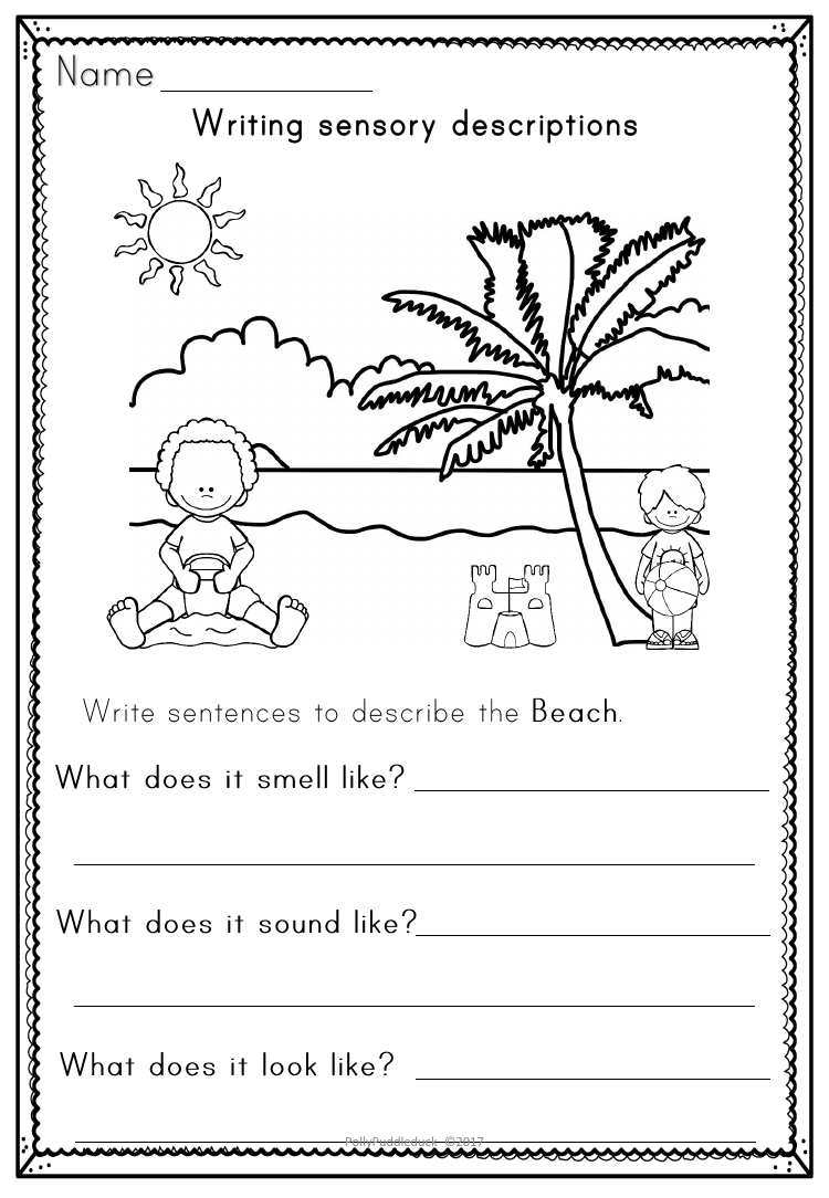 Writing Sensory Descriptions - Activity Workbook And Posters