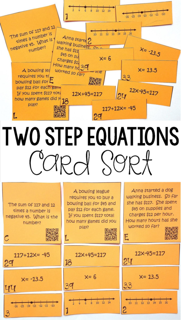 Writing & Solving Two Step Equations On A Number Line   Two