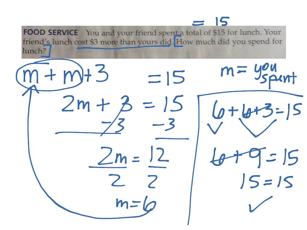 Writing Two-Step Equations   Two-Step Equations, Word
