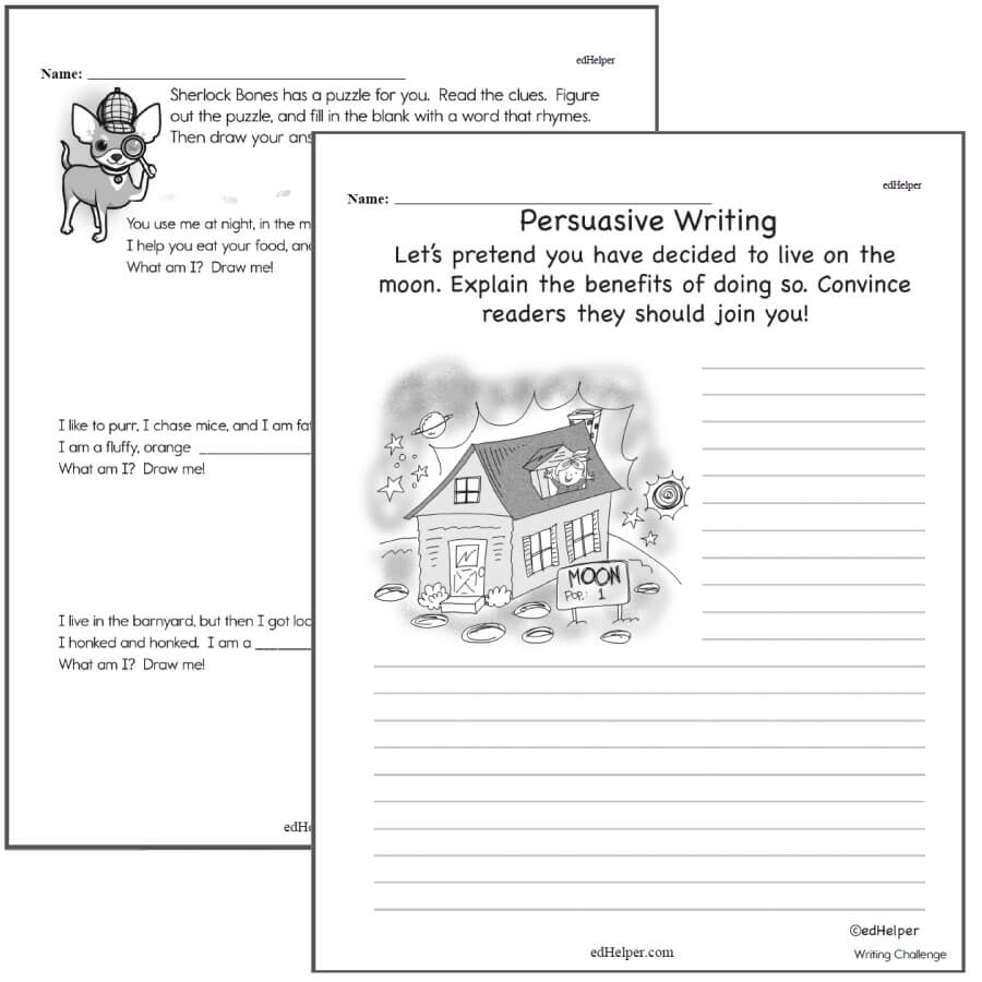 Writing Worksheets For Creative Kids Free Pdf Printables 2Nd