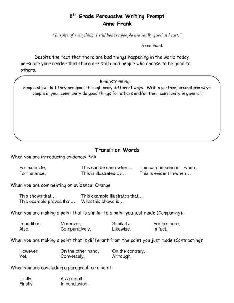 011 Persuasive Essay Transition Words Example For Essays