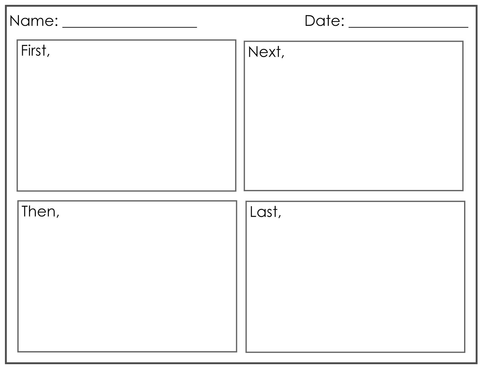 4 Square Writing Worksheets