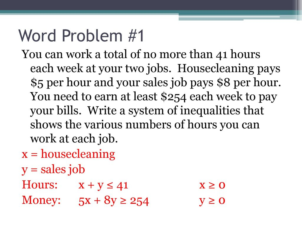 Writing Equations And Inequalities From Word Problems ...