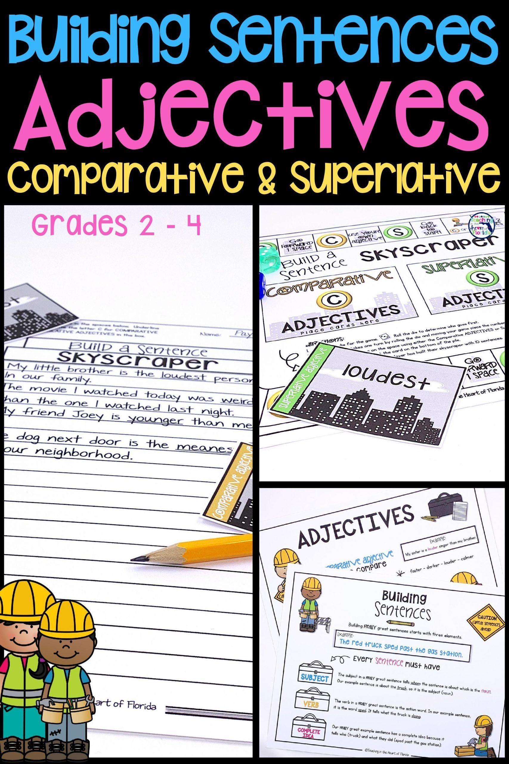 Ace Writing Strategy Worksheets Building Sentences In 2020