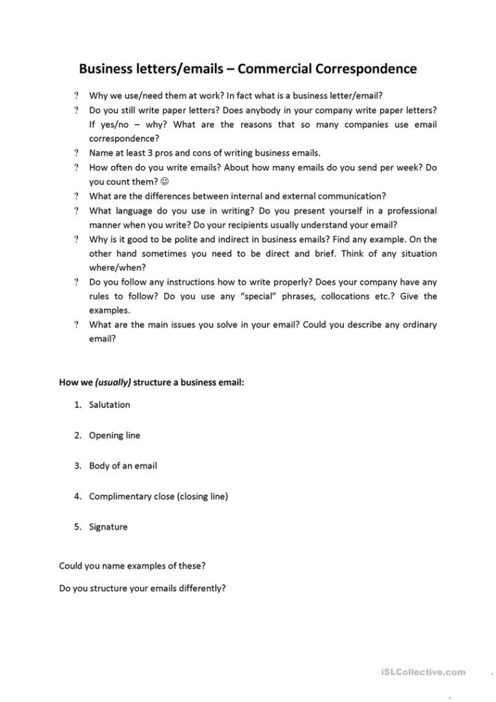 Commercial Correspondence For Business English (Writing