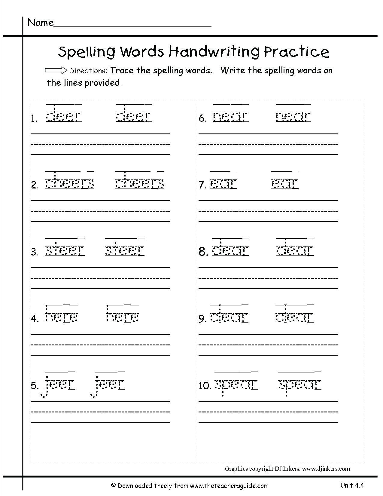 Writing Worksheets For Grade 1 Pdf