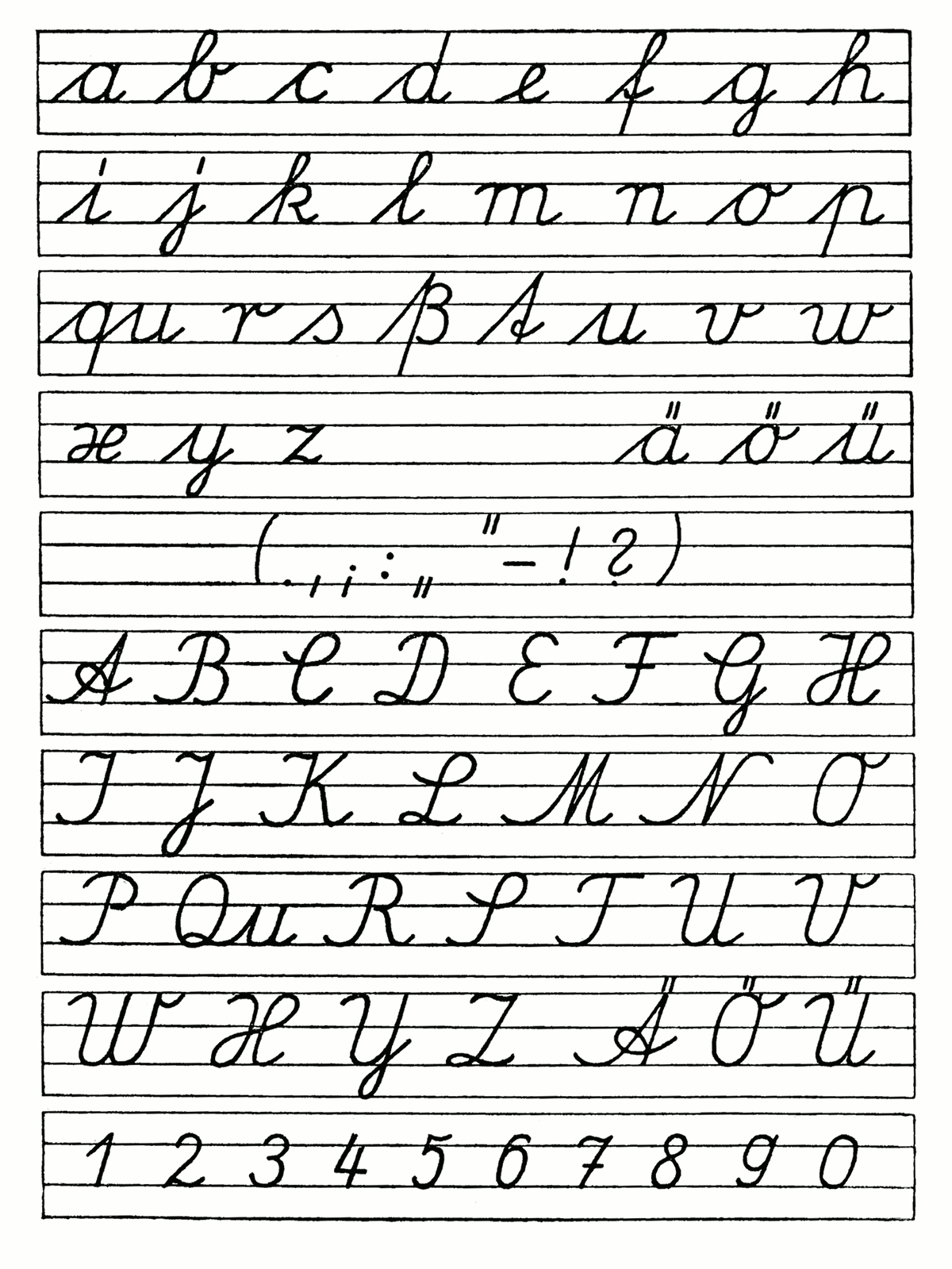 Cursive Writing A To Z Capital And Small Letters Worksheets