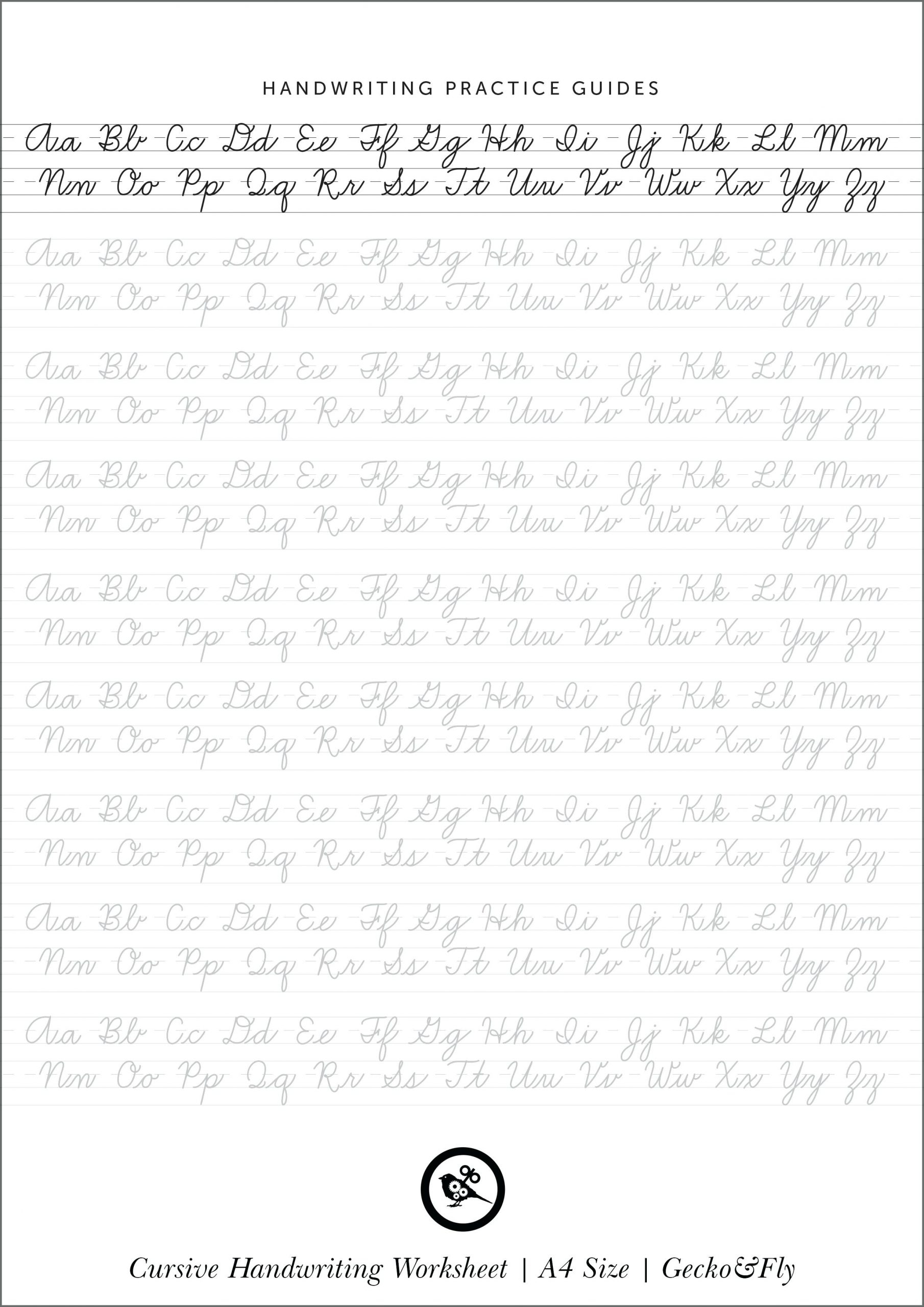 Cursive Writing Worksheets Uk Freeractice Collection Of