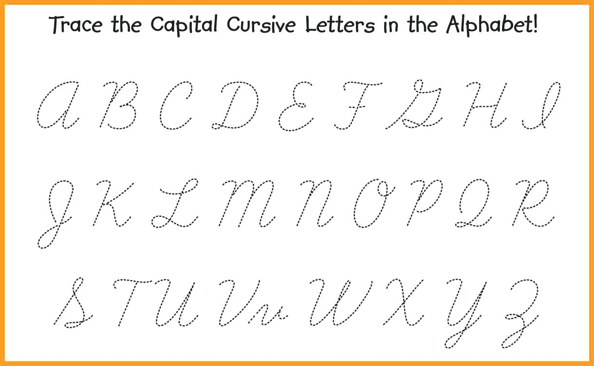 Cursive Writingeets In Capital Letters Pdf India Coloring