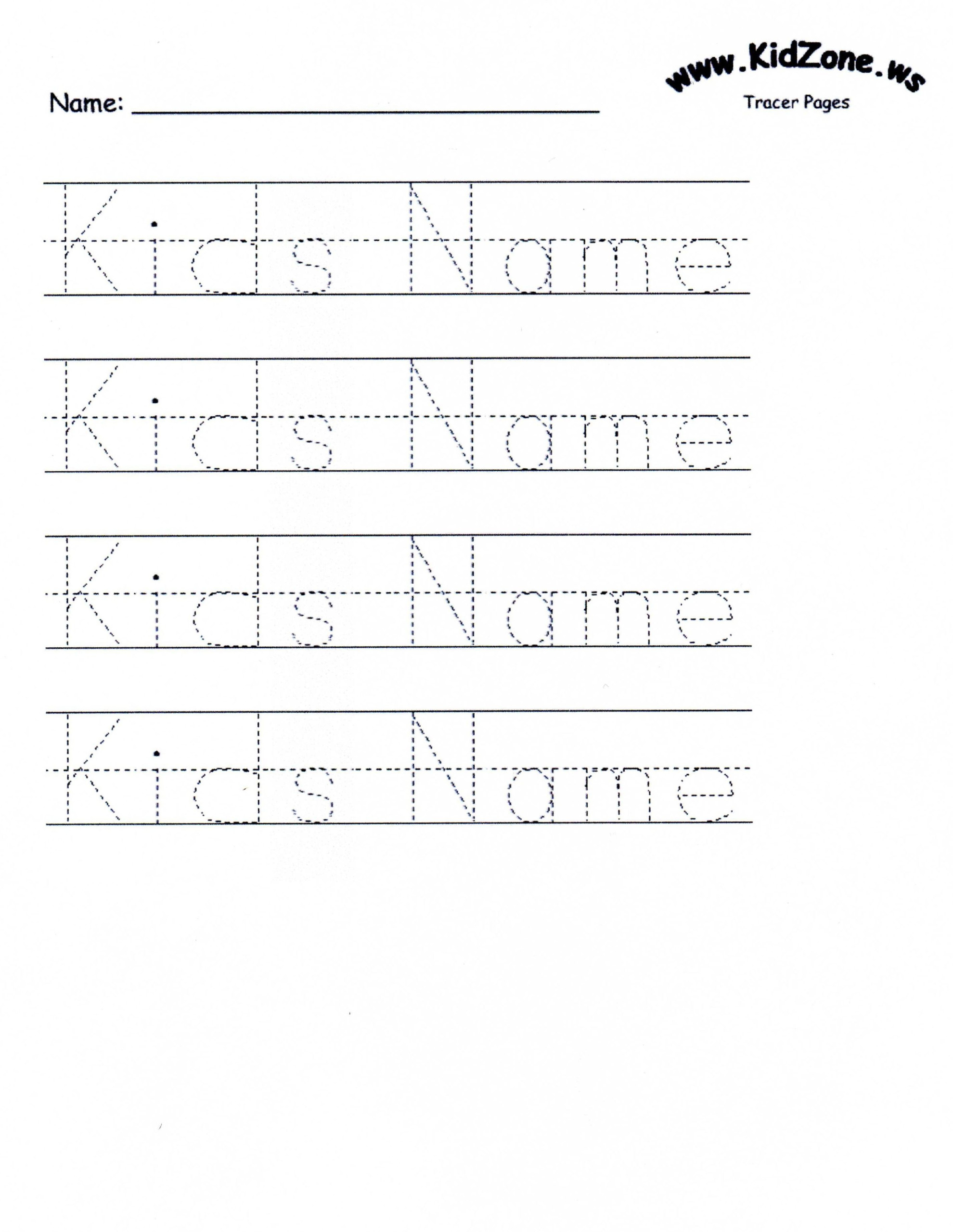 Custom Tracer Pages | Name Tracing Worksheets, Tracing