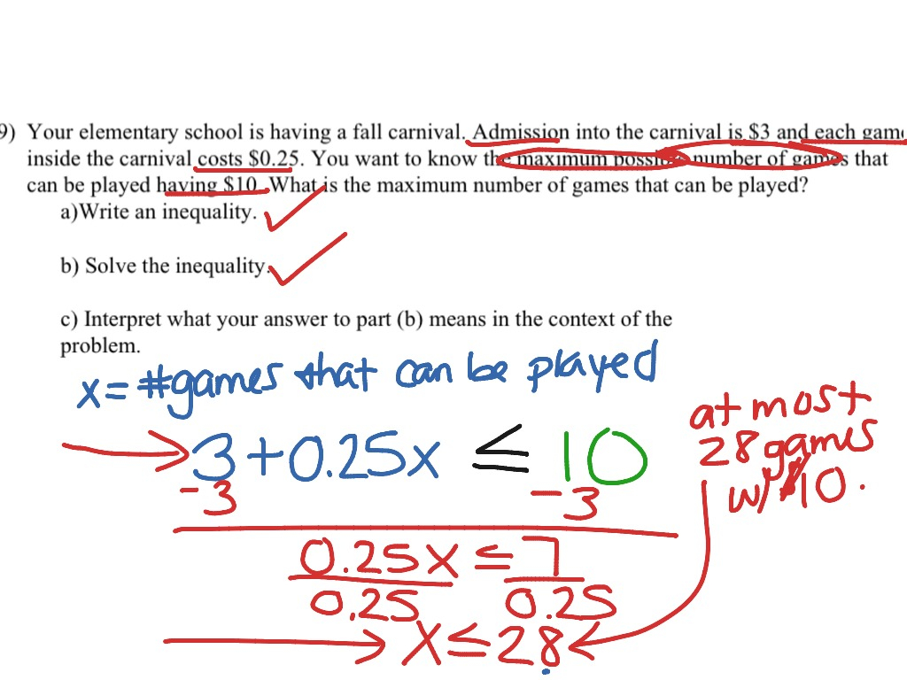 Writing Compound Inequalities From Word Problems Worksheet ...