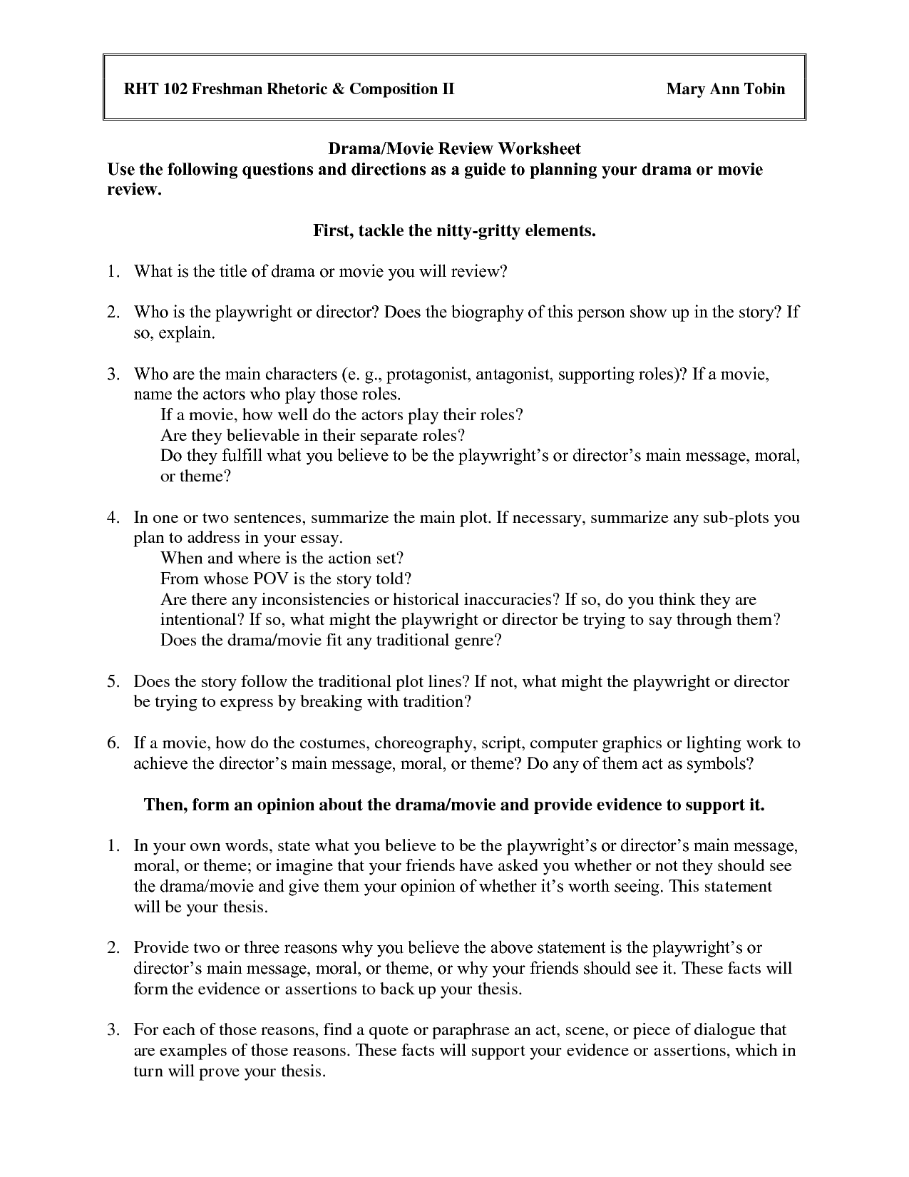 Drama Class Worksheets   Printable Worksheets And Activities