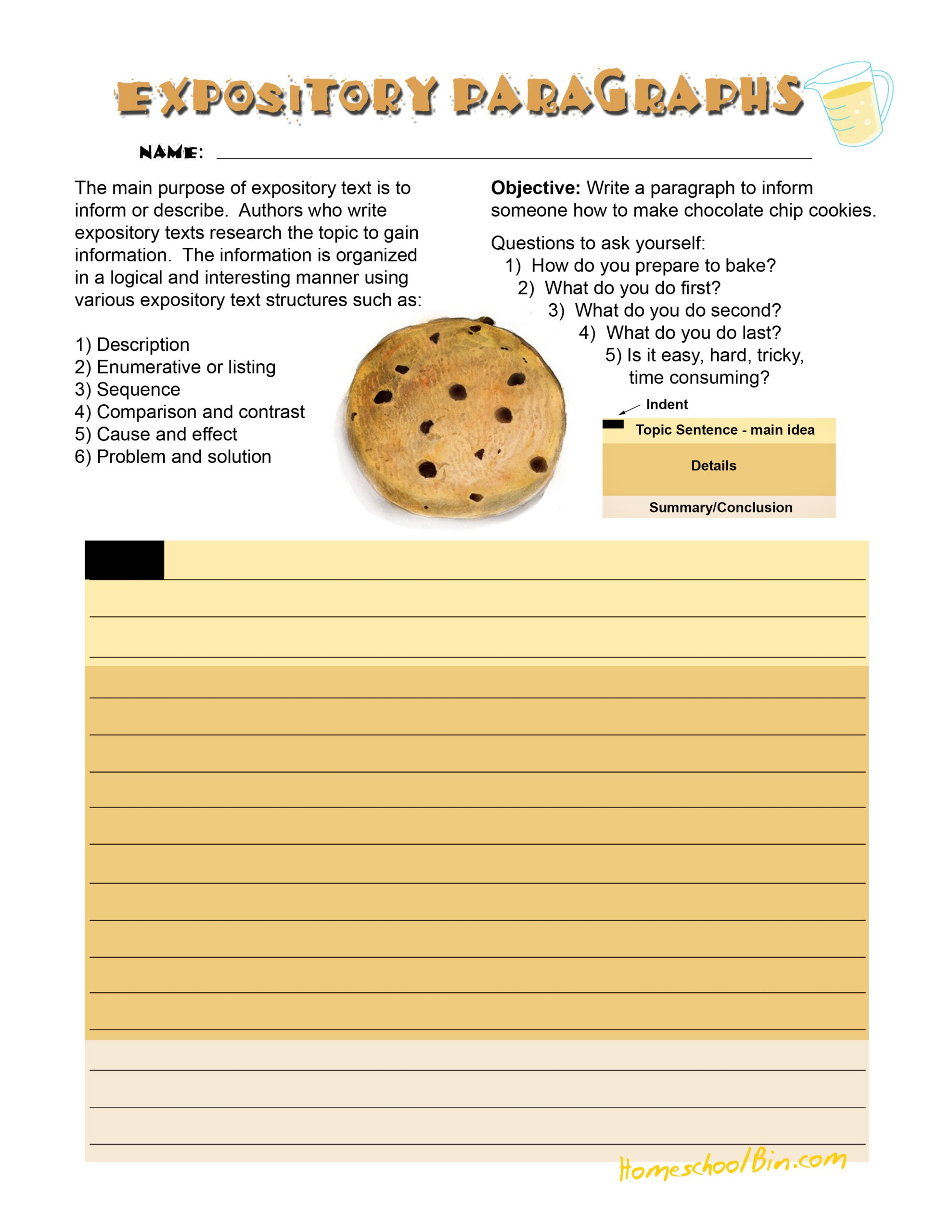 Expository Cookie   Expository Writing, Explanation Writing