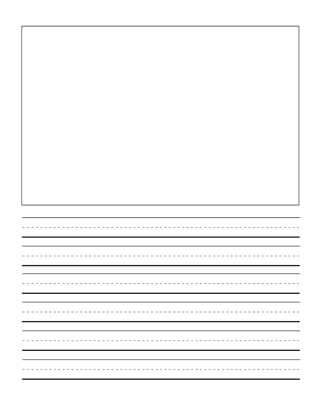 First Grade Writng Paper Template With Picture | Journal