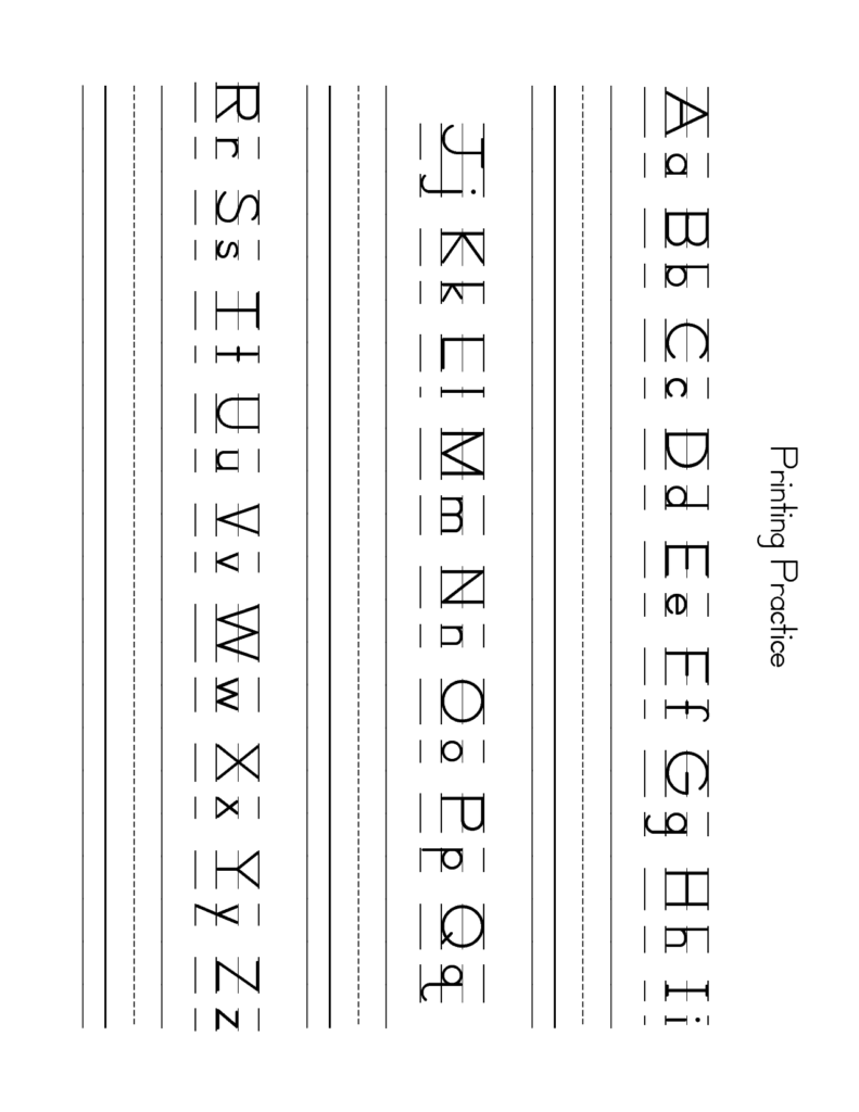 Free Lowercase Letter Worksheets   Zb Printing Practice