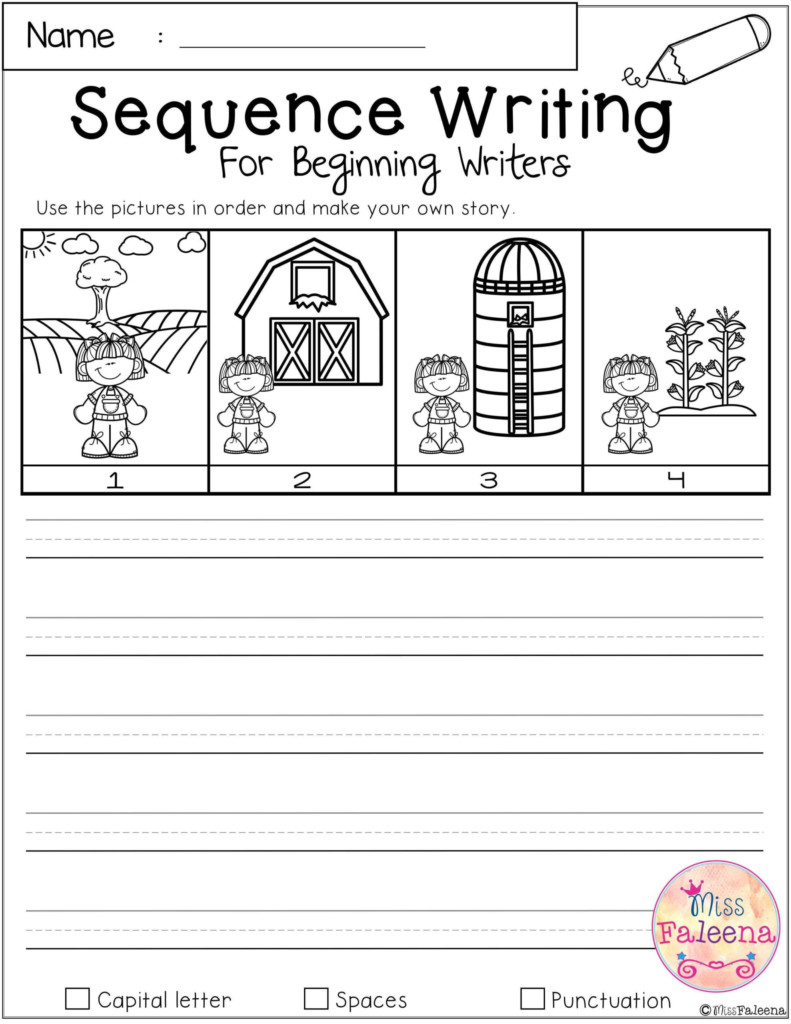 Free Sequence Writing For Beginning Writers Worksheets