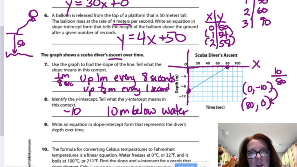 Gm8 5.1 Writing Linear Equations From Situations & Graphs
