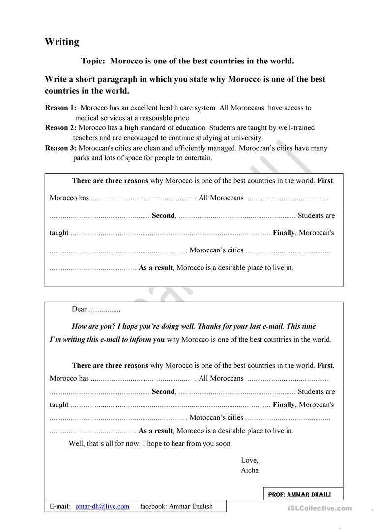 Guided Paragraph Writing Worksheets