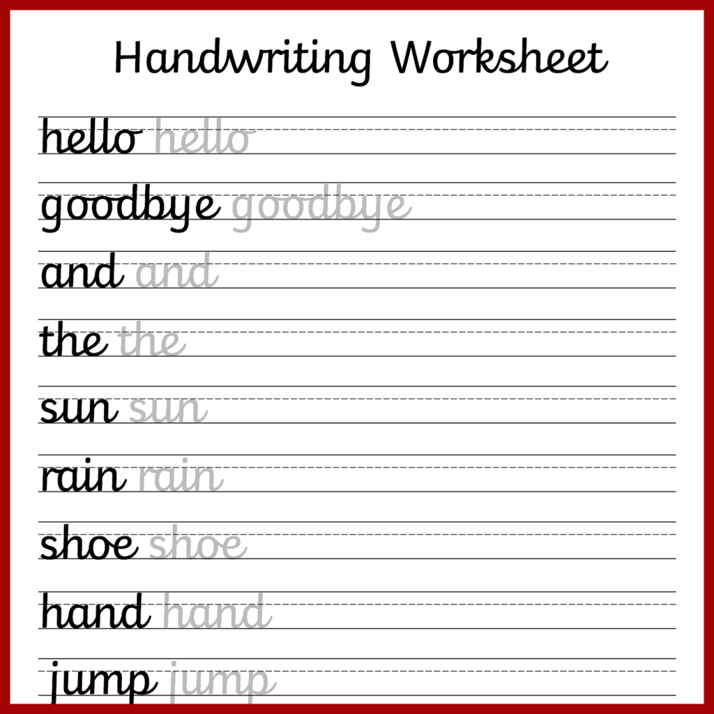 Hand Writing Worksheets For Students 2019   Educative