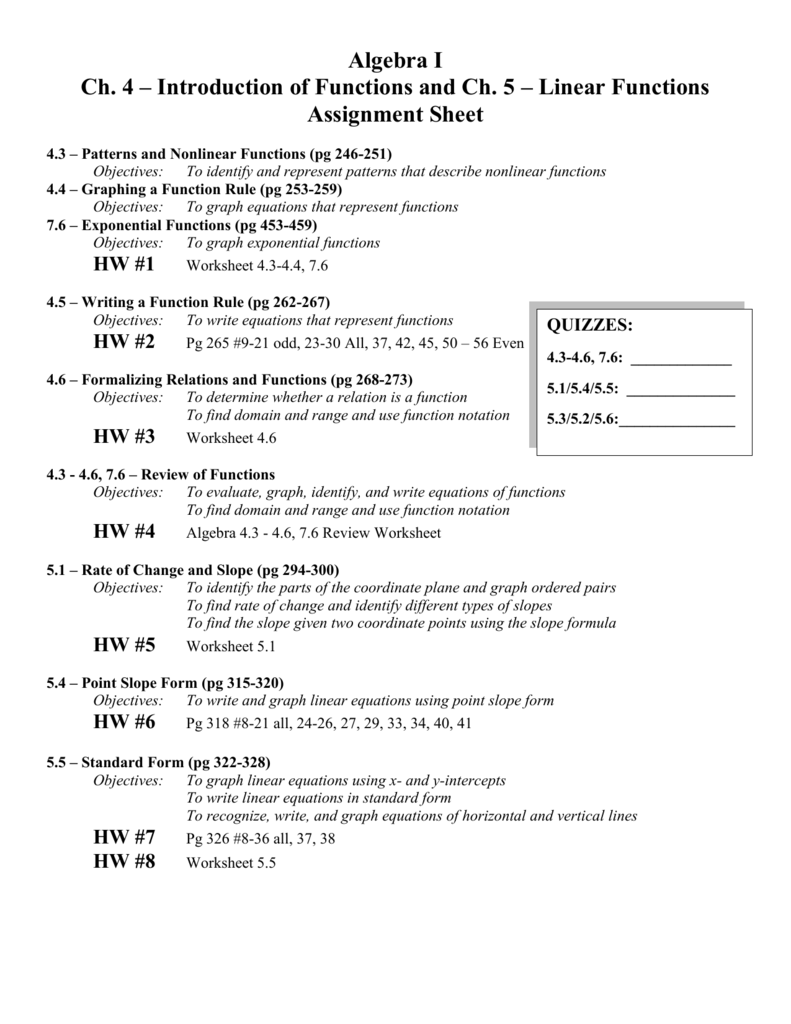 Writing Rules For Linear Functions Worksheet