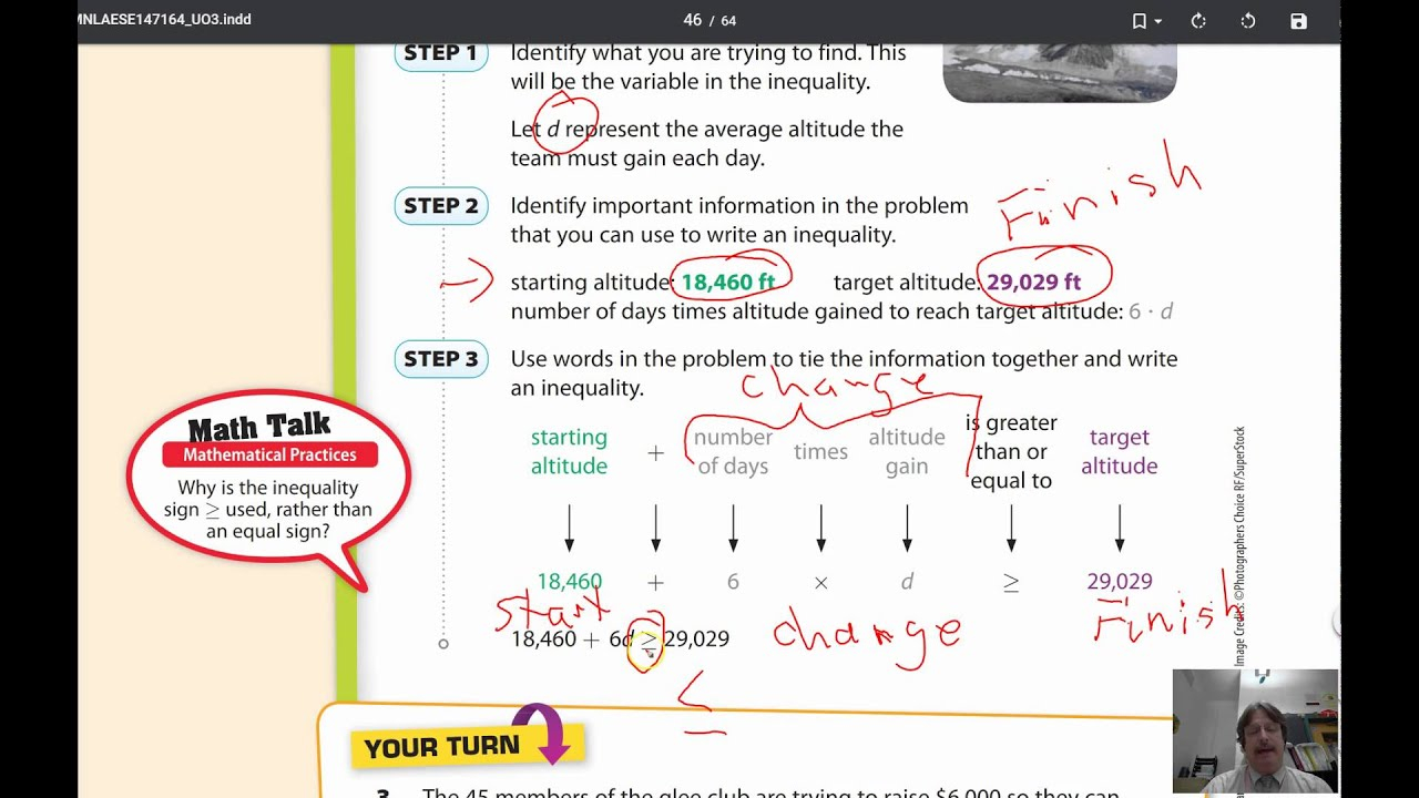 Lesson 7.2 Writing Two Step Inequalities