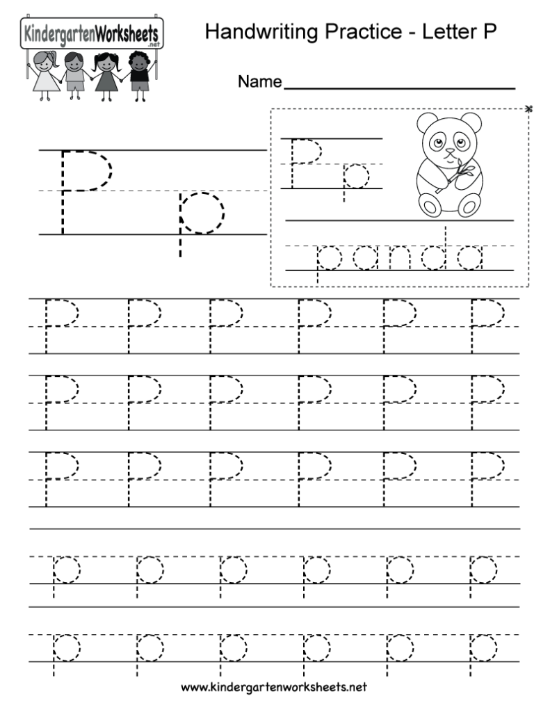 Letter P Writing Worksheet For Kindergarteners. This Series