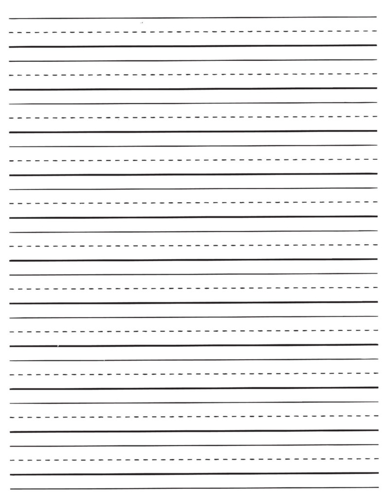 Lined Paper For Kids | Handwriting Paper Printable