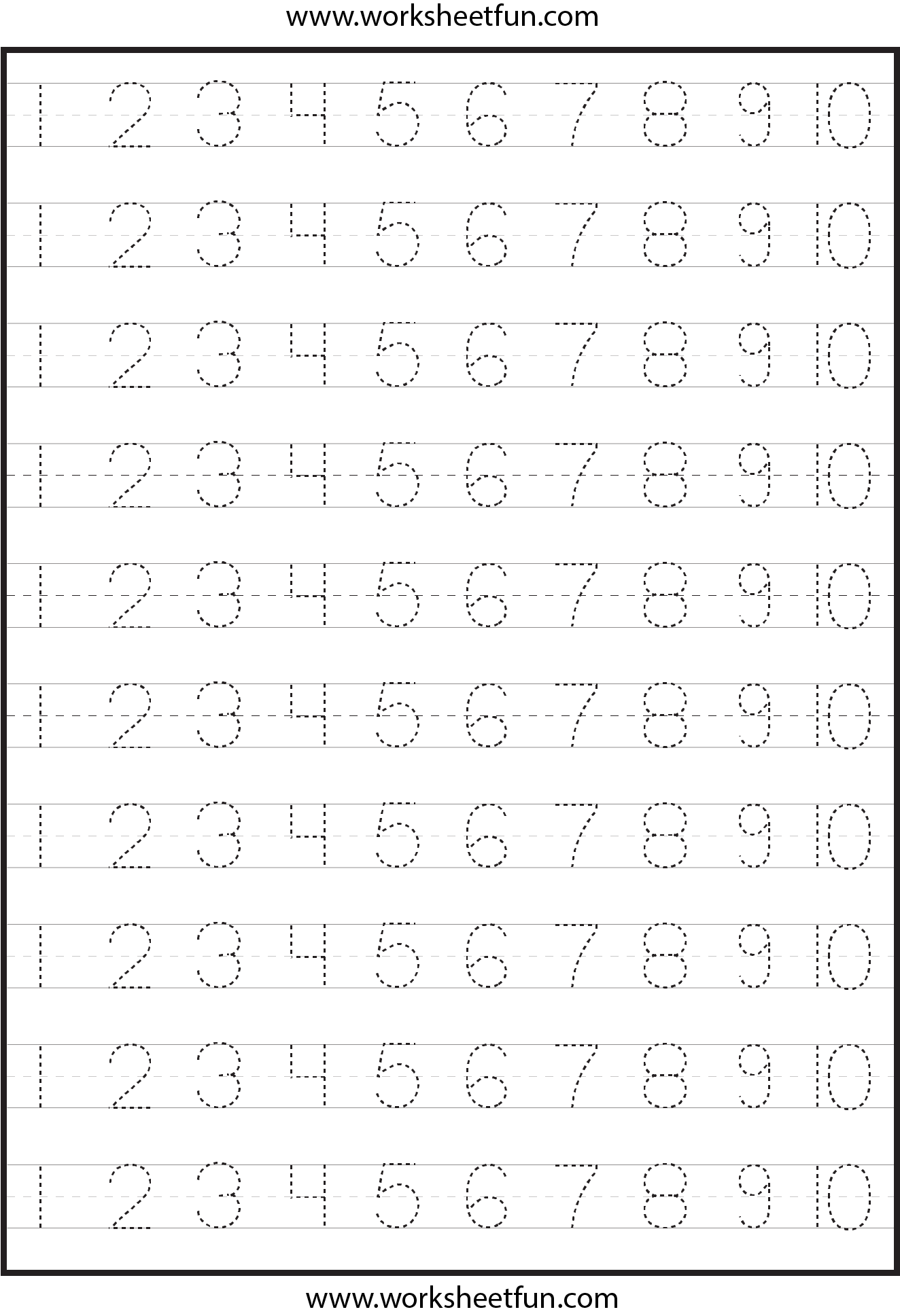 Number Writing Worksheets For Kids
