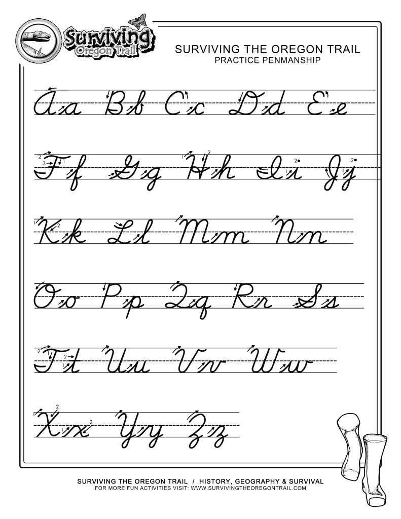 Cursive Writing Worksheets A To Z
