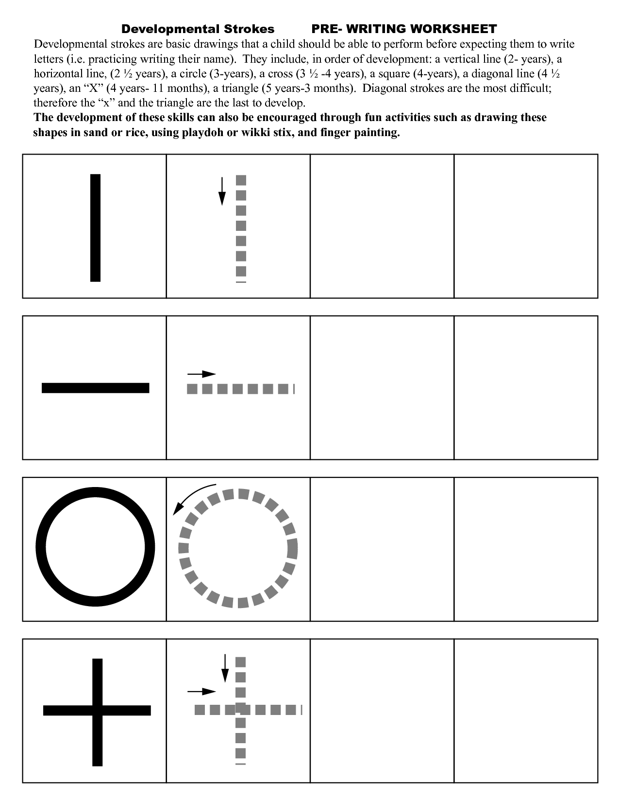 Pre Writing Strokes Worksheets … | Pre Writing Activities