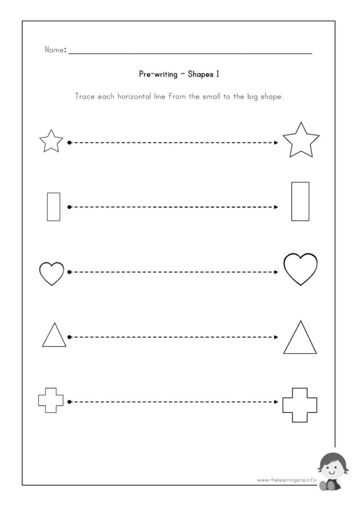 Pre Writing Worksheets To Educations Free For Preschoolers