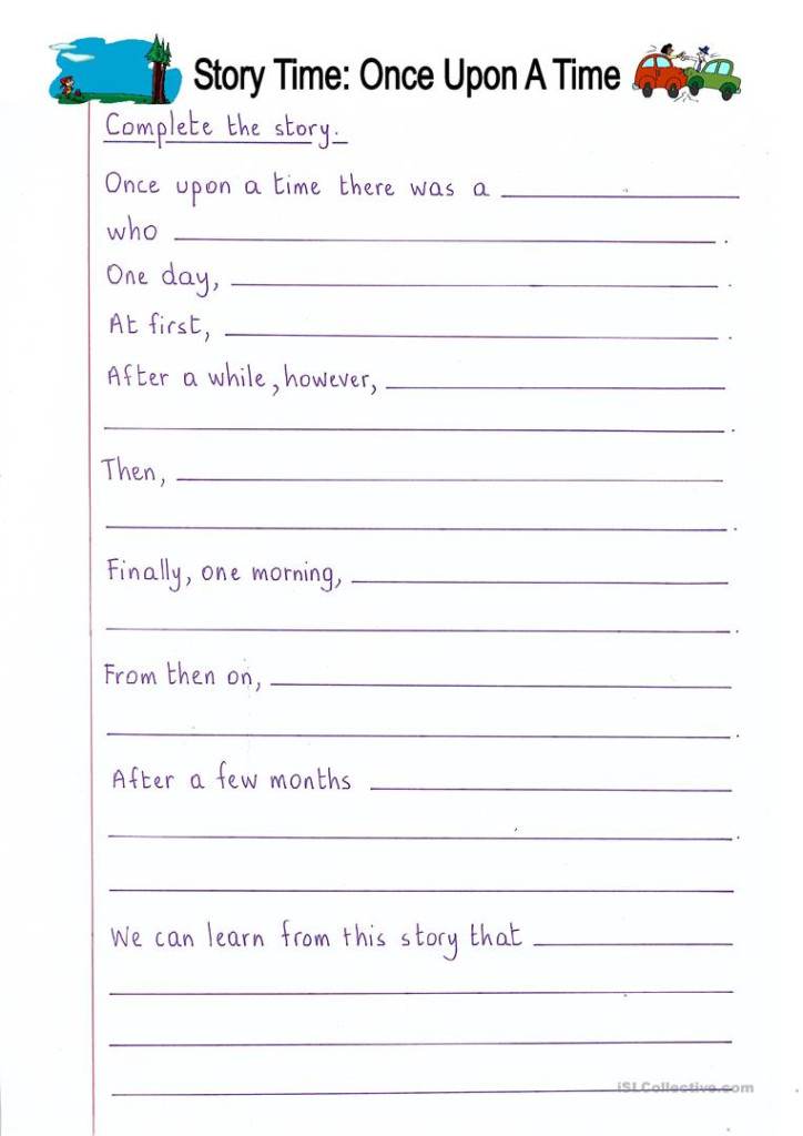 Read And Complete   Once Upon A Time (Story Writing