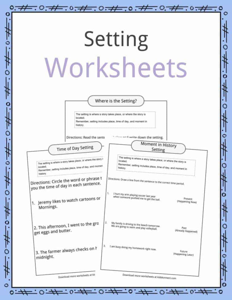Story Setting Examples, Definition & Worksheets For Kids