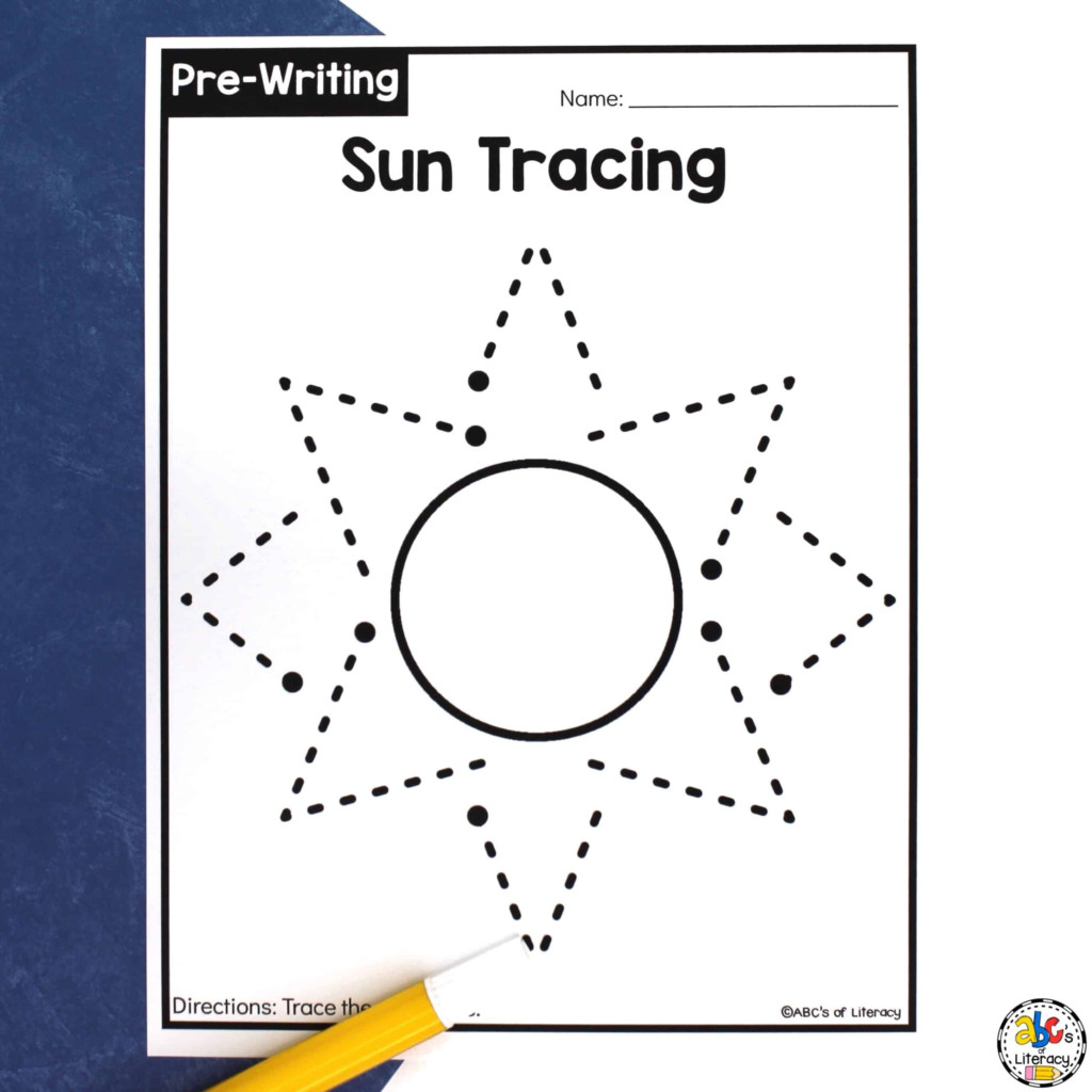Sun Tracing Worksheets: Pre Writing Activity For Preschoolers