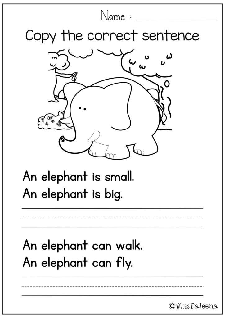 These Sentence Writing Pages Are Great For Kindergarten And