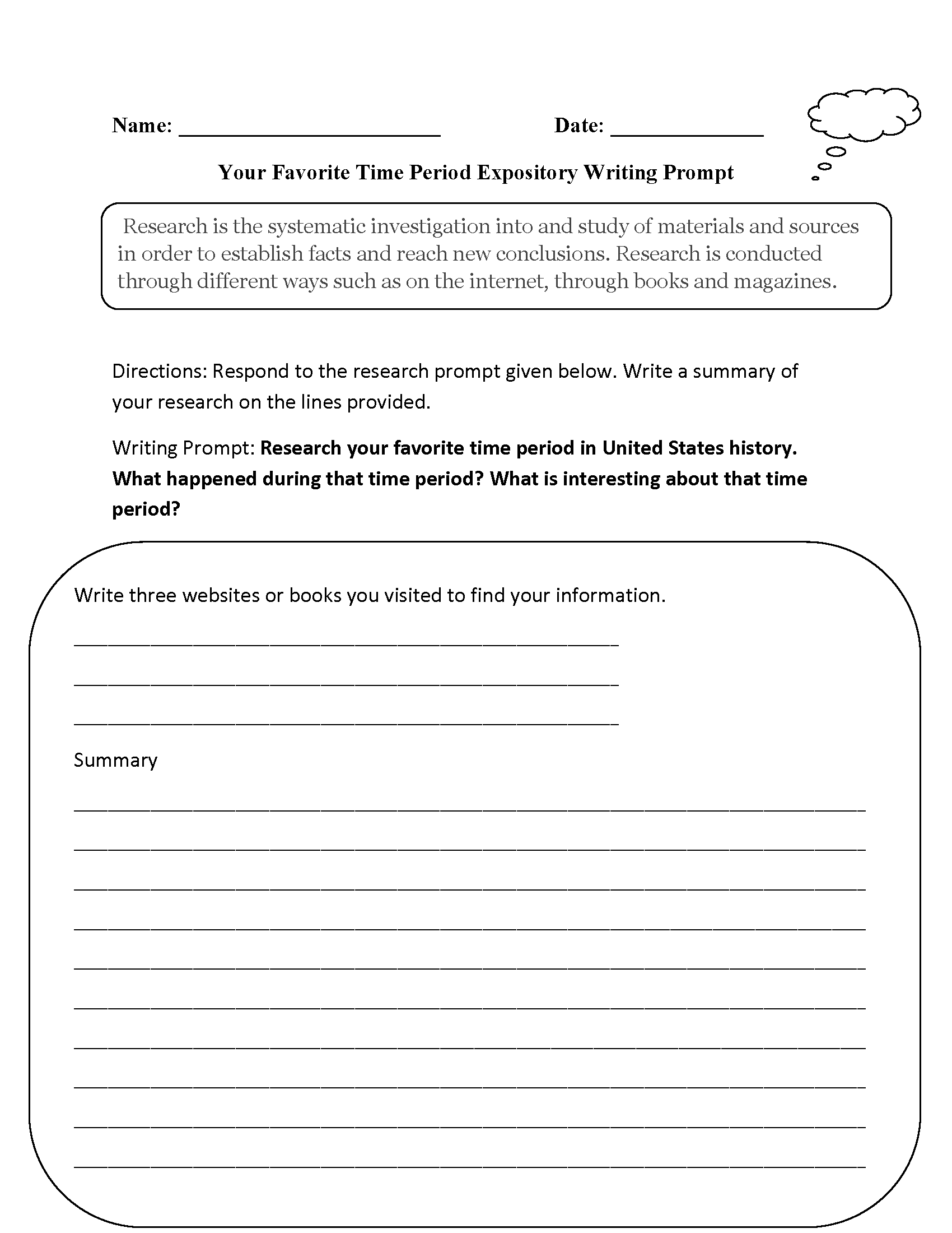 This Worksheet Will Allow Student To Research The Topic That