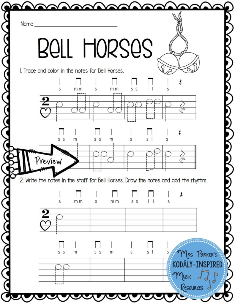 Winter Rhythm And Melody Worksheets   Music Worksheets