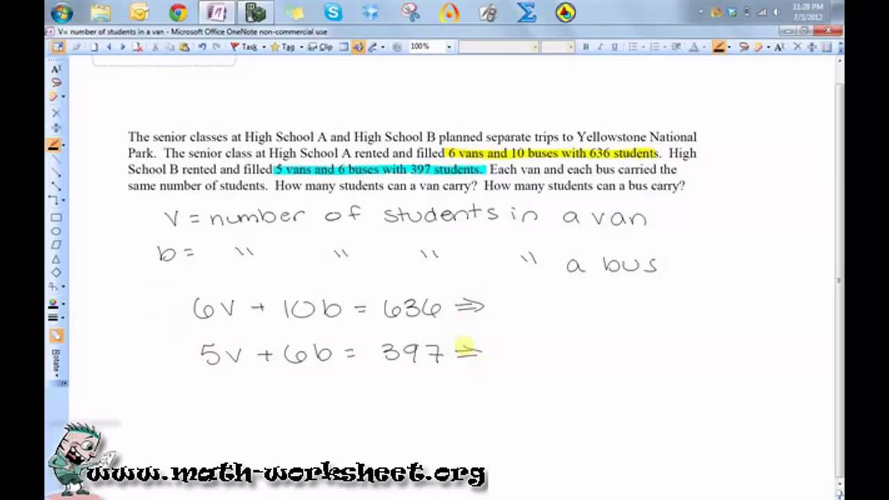 Writing Equations And Inequalities From Word Problems Worksheet