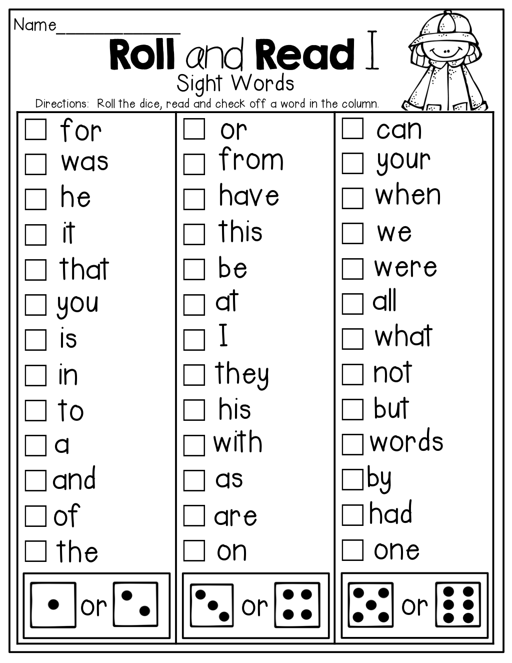 Worksheet ~ First Grade Words To Know 1St For Writing With