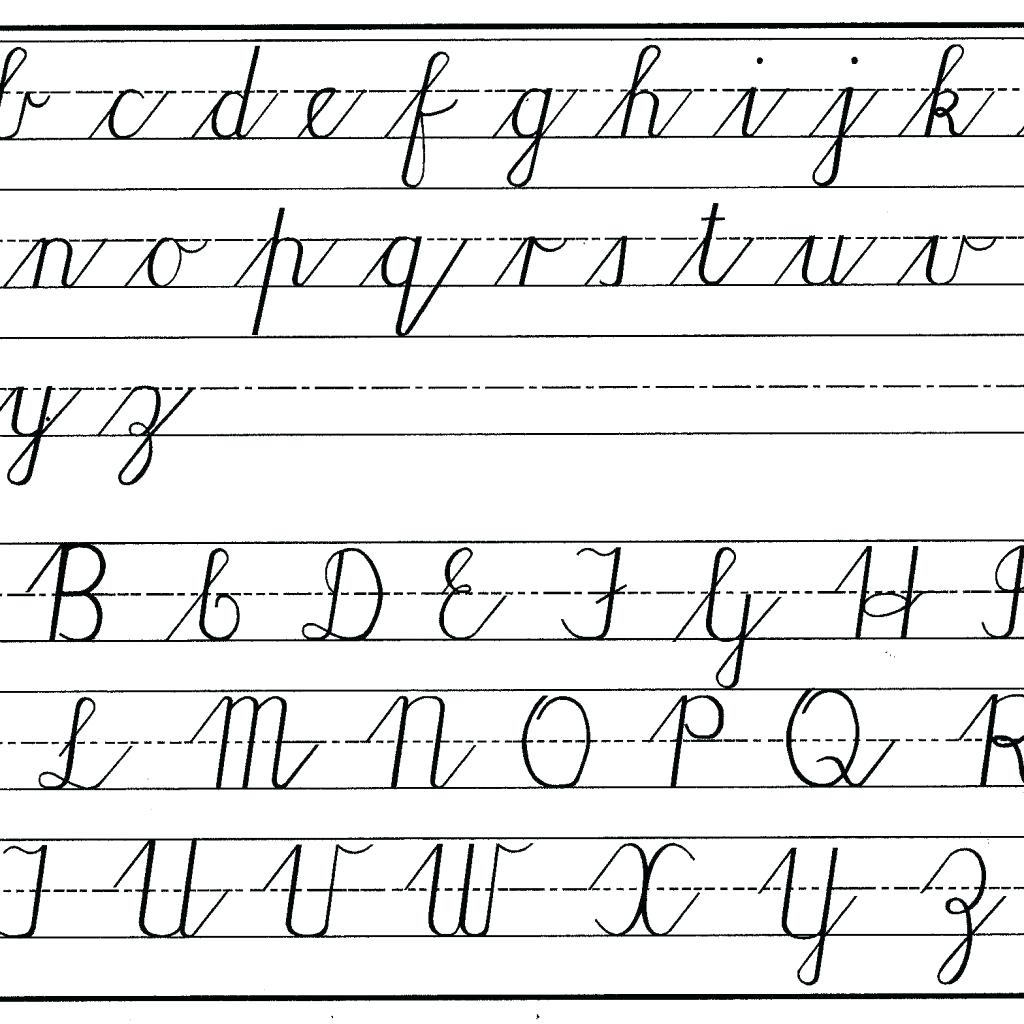 Worksheets : Cursive Alphabets Capital And Small Letters