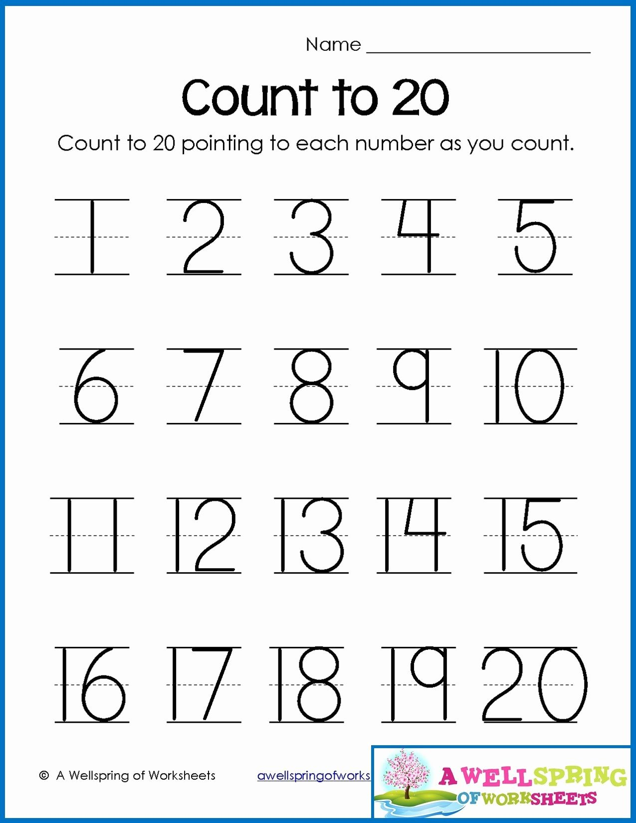 Worksheets Numbers 1 To 20 In 2020   Writing Numbers, Number