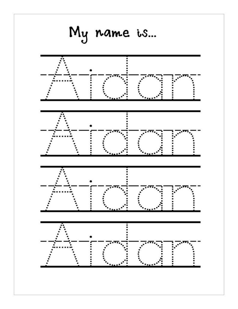 Worksheets : Trace Your Name Worksheets Tracing Free