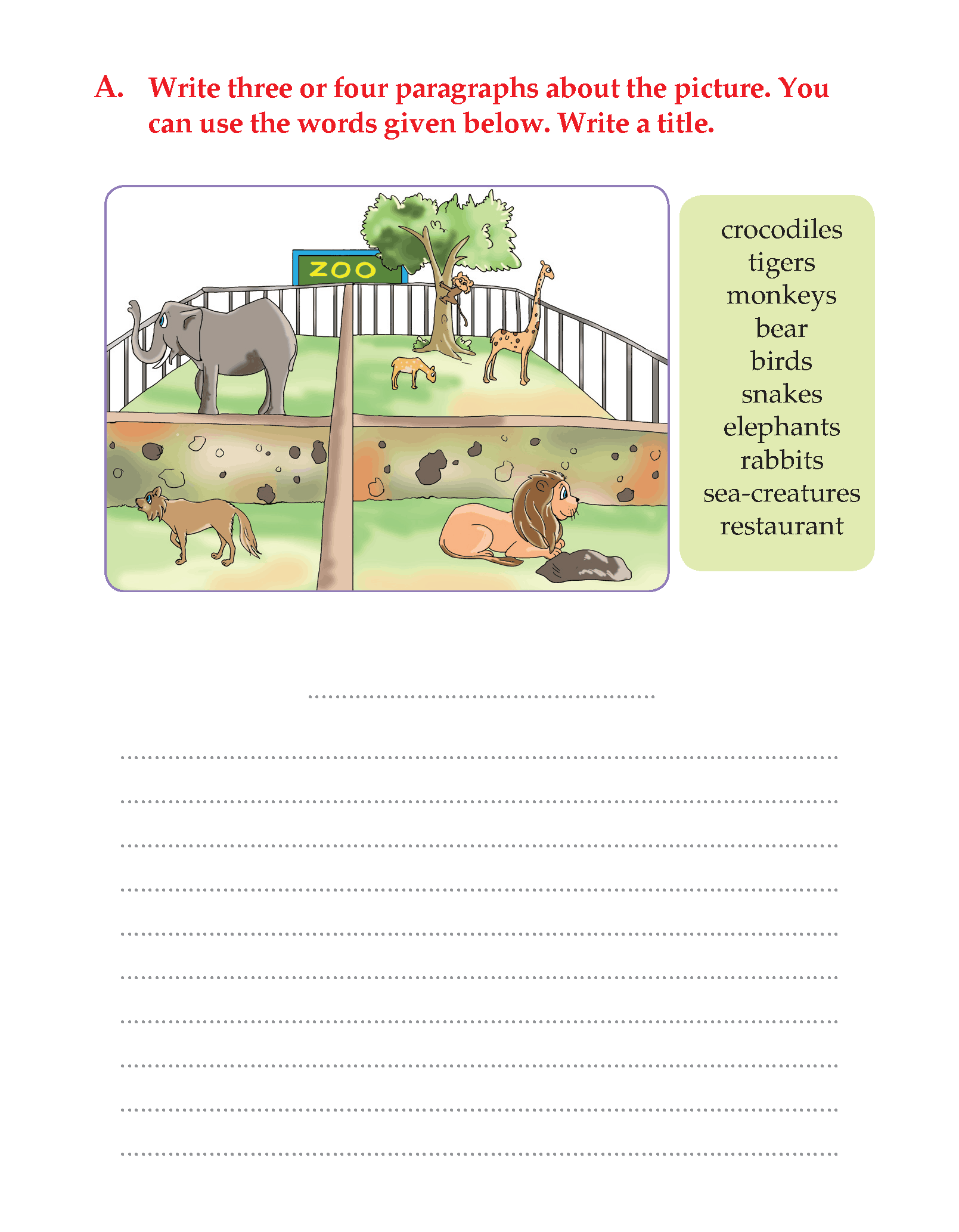 Writing Skill -Grade 3 - Picture Composition (7)   English