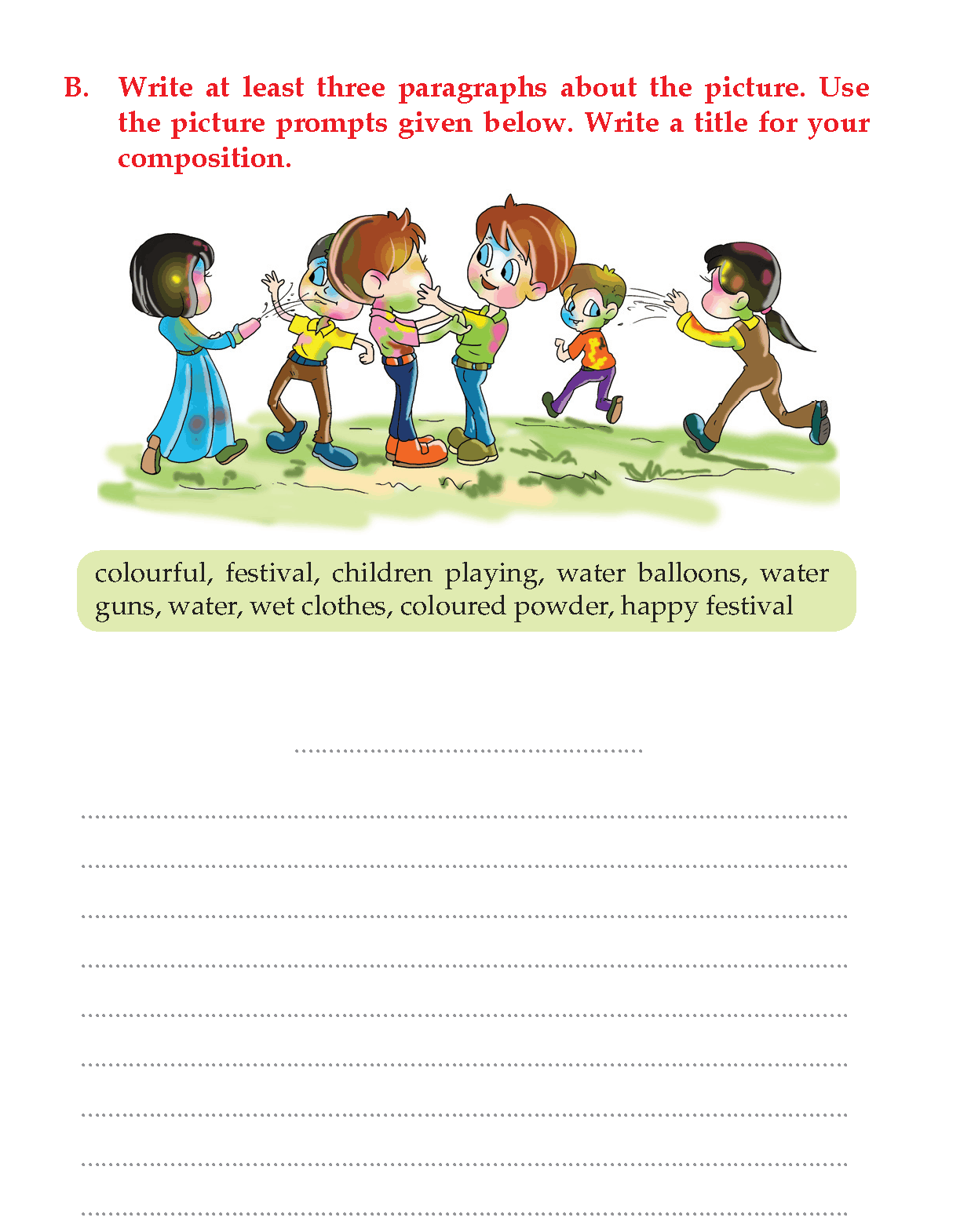 Writing Skill -Grade 3 - Picture Composition (8)   Picture