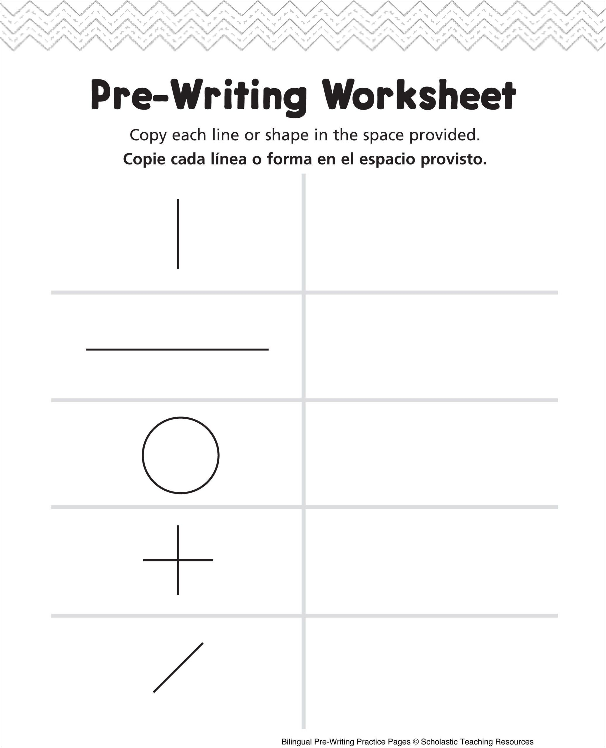 Pre Writing Shapes Worksheets