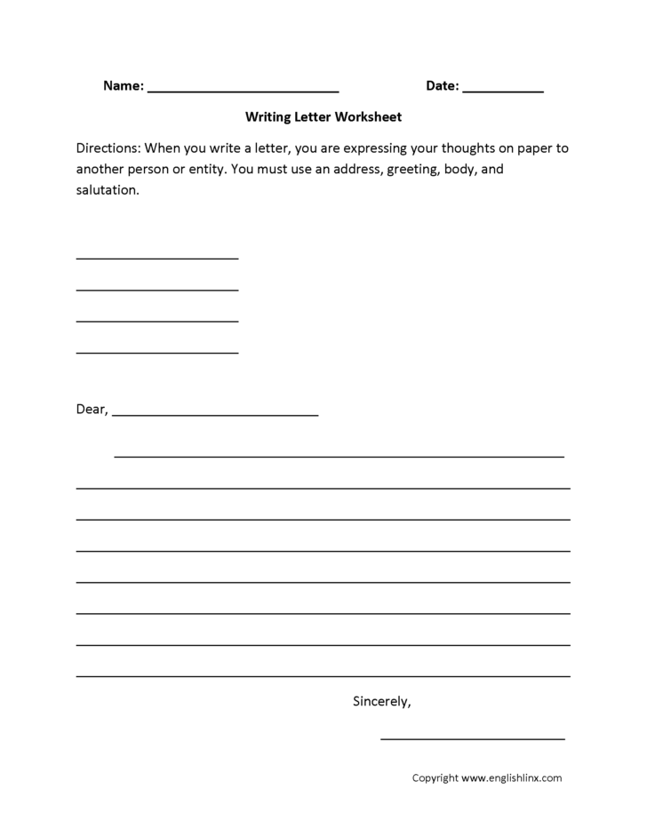 Handwriting Practice Worksheets For 7th Grade