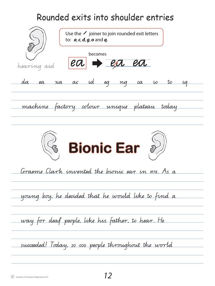 Handwriting Worksheets For 7 Year Olds